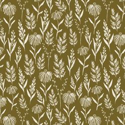 Perennials in Cream on Olive
