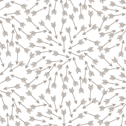 Arrows in Taupe on White