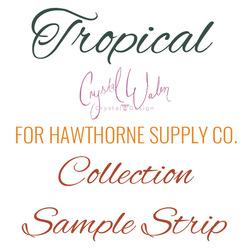 Tropical Sample Strip