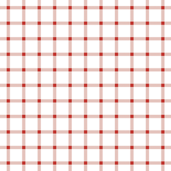 Liberty Gingham in Firecracker Red on White