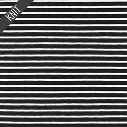 Harbor Stripe Jersey Knit in Black