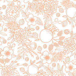Floral Linework in Bright Apricot