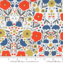 Florals in Multi Blue