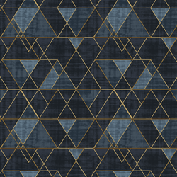 Mod Triangles in Indigo and Gold