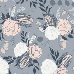 Emley Floral in Bluestone