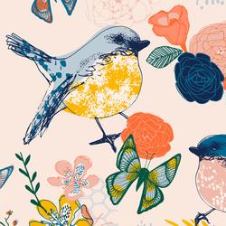Large Bird Garden in Pearl Pink