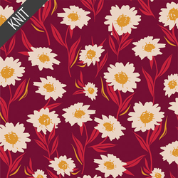 Bountiful Daisies Knit in Cherry