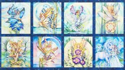 Morningmoon Fairies Panel in Garden