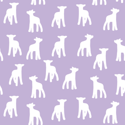 Lamb Silhouette in Lilac