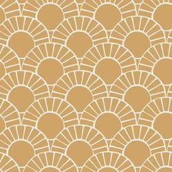 Large Mosaic Sun Tile in Golden Sunshine