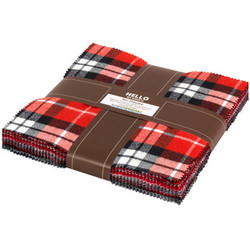 Mammoth Flannel Ten Squares Bundle in Red
