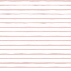Artisan Stripe in Blush on White