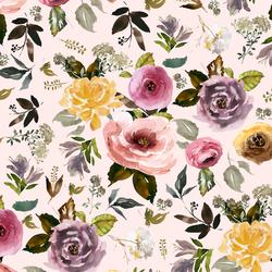 English Garden in Soft Blush