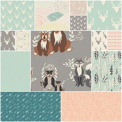 Hello Bear Fat Quarter Bundle in Stone