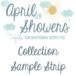 April Showers Sample Strip