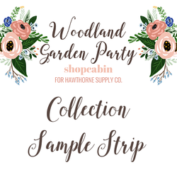 Woodland Garden Party Sample Strip