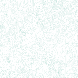 Paperie in Blossom Mint on White