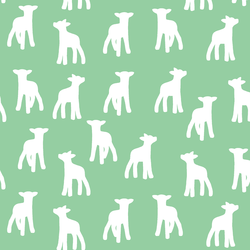 Lamb Silhouette in Sprout