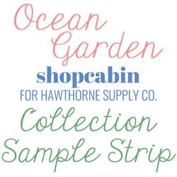 Ocean Garden Sample Strip