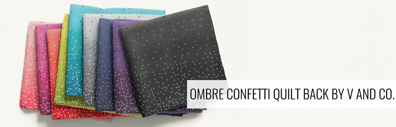 Ombre Confetti Quilt Back by V and Co.