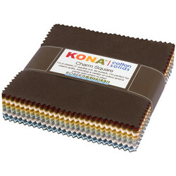 Kona Cotton Solids Charm Squares in Neutral Colorstory