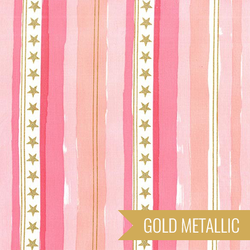 Stars and Stripes in Pink Metallic