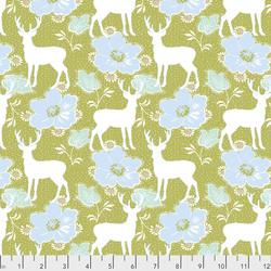 Deer Floral in Olive