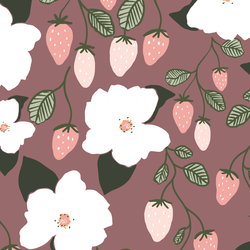 Strawberry Magnolias in Tulipwood
