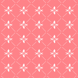 Quilted Snowflake in Gumdrop Pink