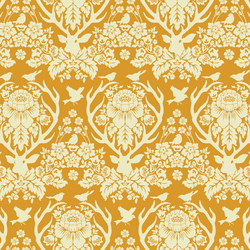 Little Antler Damask in Warm Gold