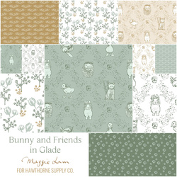 Bunny and Friends Fat Quarter Bundle in Glade