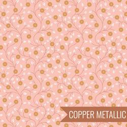 Flowers in Pink Metallic