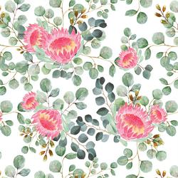 Protea in White
