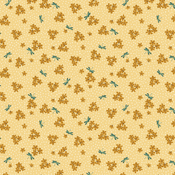 Delicate Dragonflies in Soft Yellow