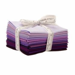 Bella Solids Fat Quarter Bundle in Purple