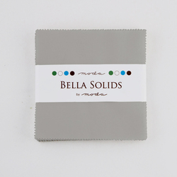 Bella Solids Charm Pack in Silver