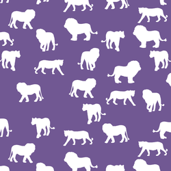 Lion Silhouette in Ultra Violet
