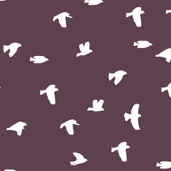 Flock Silhouette in Raisin