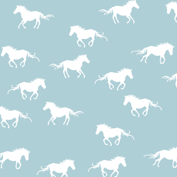 Horse Silhouette in Powder Blue