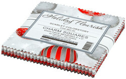 """Holiday Flourish 14 5"""" Square Pack in Scarlet"""