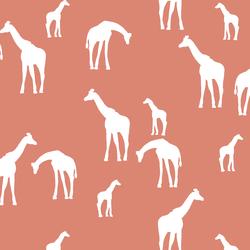 Giraffe Silhouette in Desert Rose