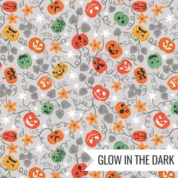 Spooky Pumpkins in Light Grey