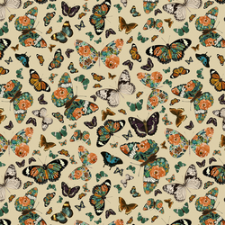 Small Autumn Butterfly in Soft Taupe