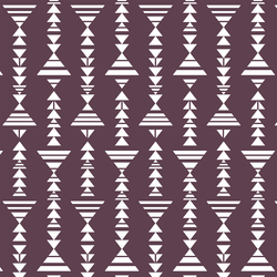 Little Tribal Stripe in Raisin