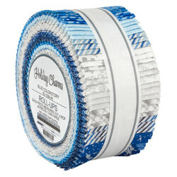 """Holiday Charms 2.5"""" Strip Roll in 2021 Blue Colorstory"""
