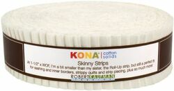 "Kona Solid 1.5"" Strip Roll in Snow"