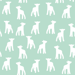 Lamb Silhouette in Mint