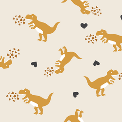 Dinosaurs in Golden Yellow