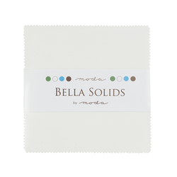 Bella Solids Charm Pack in White