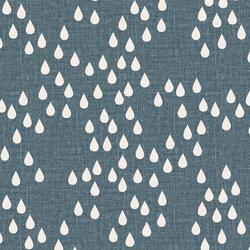 Rain Drops in Mid Teal